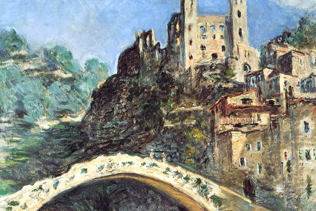 The medieval Bridge in Dolceacqua, once painted by Claude Monet